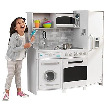 Genial KidKraft Kids Kitchens Playset, White/black