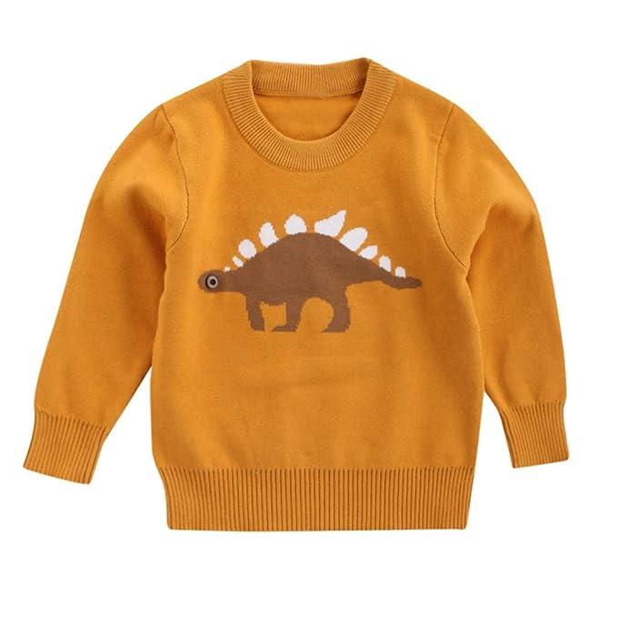 Jungen Kleidung Neue Jungen Gestrickten Pullover Winter Herbst Kind Baby Cartoon Dinosuar Muster Top Mädchen Oberbekleidung Strickjacke Für 2-7y Kinder