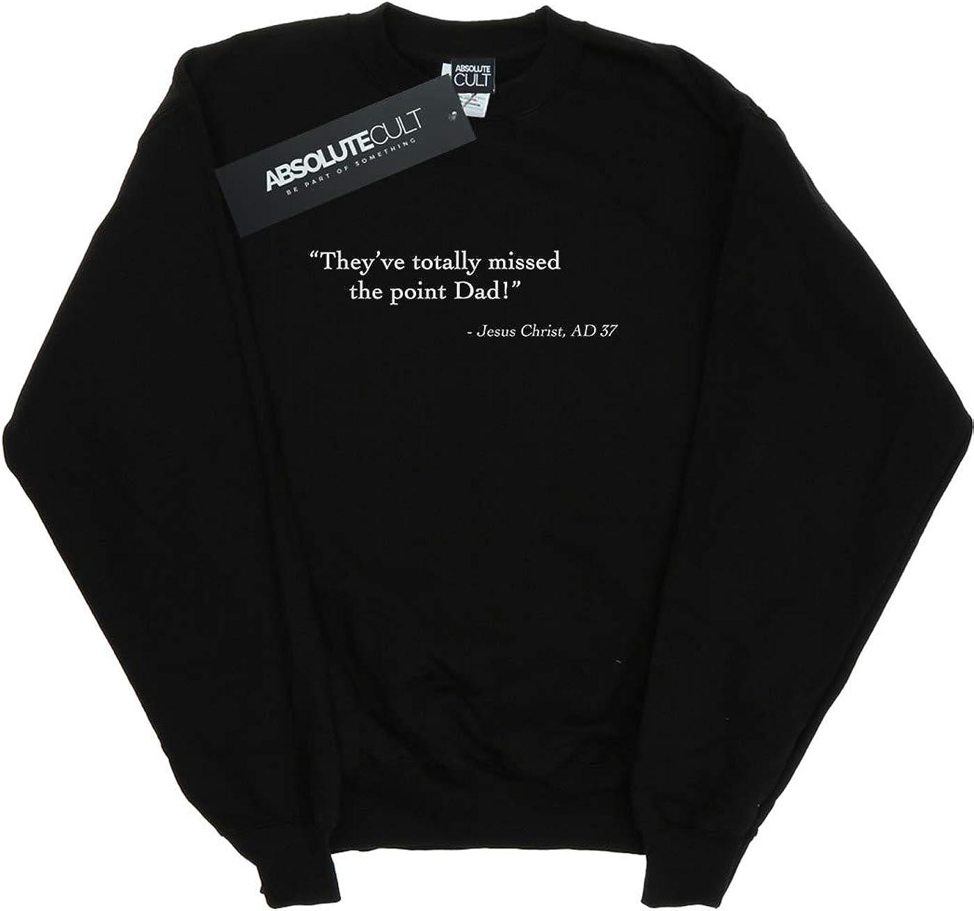 Absolute Cult Drewbacca Girls Jesus Christ Quote Sweatshirt