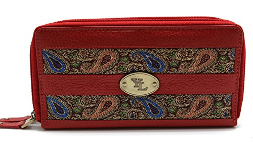 Clutch Wallet Animal Skin Collection - Womens (blue green) - 5