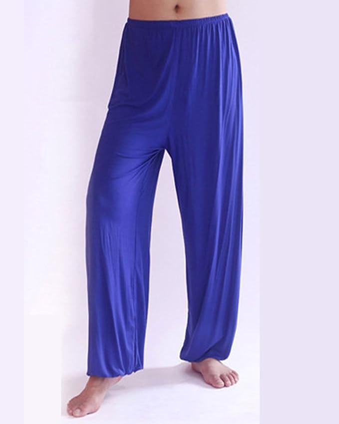 Pantalones De Yoga Suelto Y Cómodo Hombre Lounge Danza Fitness Pijama  Pantalón  Amazon.es  Ropa y accesorios 41657fe3df25