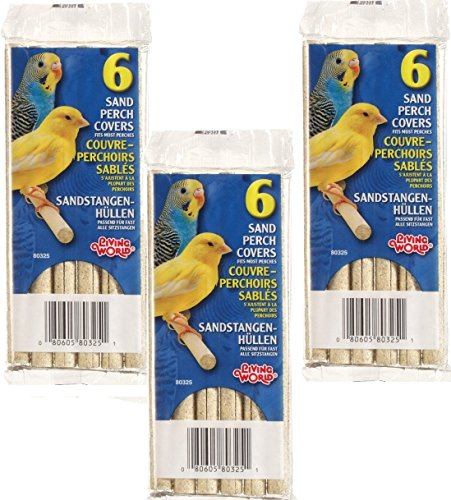 51pFcYNZhQL - (3 Pack) Living World Sanded Perch Refills, 6 Refills each