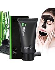 Luckyfine Mascarilla Negra para Puntos Negros, Mascarilla Limpiadora Facial, Elimina los Granos y Espinillas