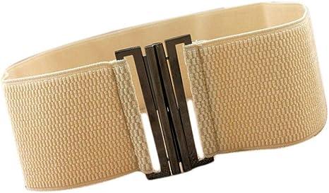 Oyccen Cinturón Elástico para Mujer Cinturones de Vestir Pretina ...