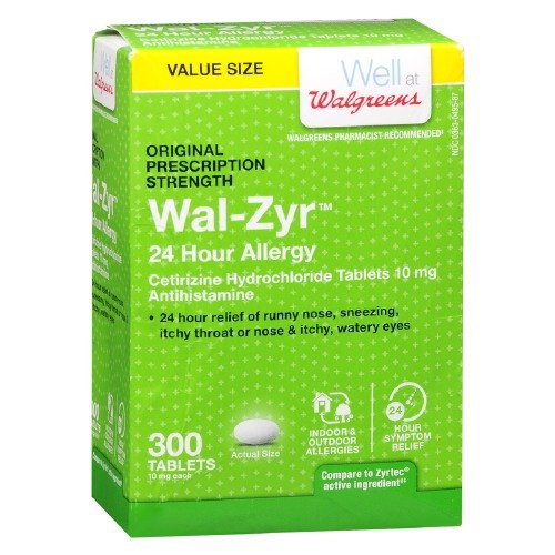 Walgreens Wal Zyr All Allergy Tablets 300