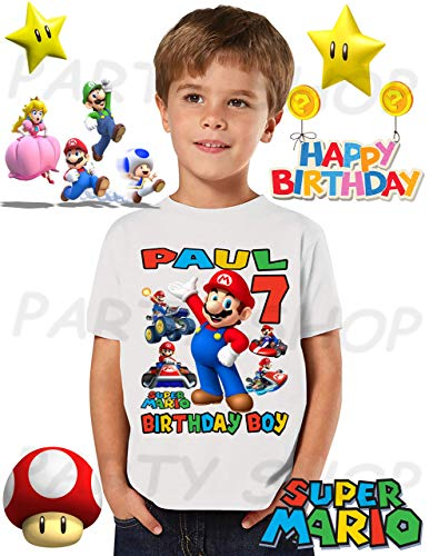 Mario Bros Birthday Shirt, Mario Bros Park Birthday Party, Add Any Name and Age, Family Matching Shirts, Boys and Girls Birthday Shirts, Mario Bros Birthday Shirt 1