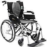 Karman Healthcare Ergonomic Wheelchair Ergo Flight with Quick Release Axles in 18-Inch Seat, Pearl Silver Frame