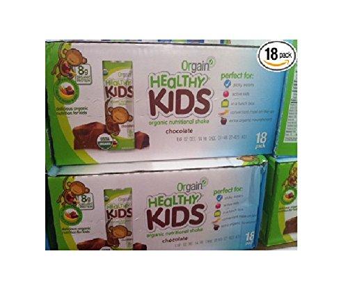 Orgain Healthy Kids Organic Nutritional Shake - 18 Pack 8.25 Oz. Bottles by Orgain