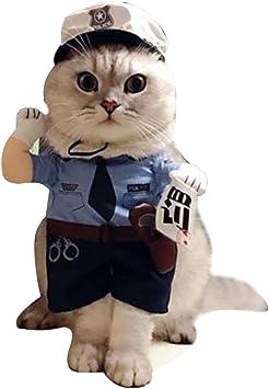 LPATTERN Disfraz para Mascotas Doméstico Gato Perro Traje Uniforme ...