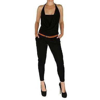 Temperament Schuhe neue Version außergewöhnliche Farbpalette Fashion Edel Damen Overall Jumpsuit Gr. S - L in schwarz ...