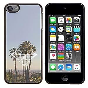 EJOOY---Cubierta de la caja de protección para la piel dura ** Apple iPod Touch 6 6th Touch6 ** --palmeras diamante Miami California La