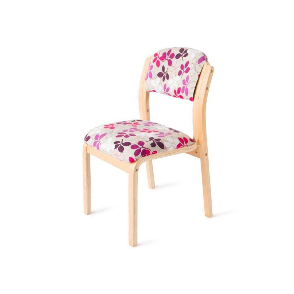 DALL ダイニングチェア JY 071創造的な花のパターン ソリッドウッドチェアフレーム 組み立てることができます リムーバブル ウォッシュ 背もたれレジャー木製椅子 (色 : 3) B07DCNMZ623