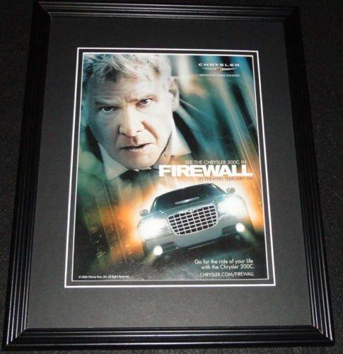 (Firewall 2006 Chrysler 300C Framed 11x14 ORIGINAL Advertisement Harrison Ford)