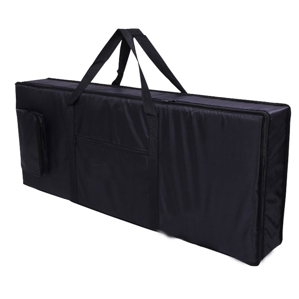 Hersent 61 Note Electric Piano Keyboard Bag with Portable Handle Shoulder Straps 420D Oxford 4mm Padding Case Gig Bag Best Gift for Music Students or Instrument Enthusiast HJT07-US 4334261962