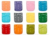 Best Seller! 12 KaWaii Baby Original Squared One Size Cloth Diapers + 24 Large Inserts