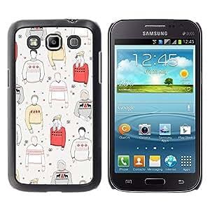Paccase / SLIM PC / Aliminium Casa Carcasa Funda Case Cover para - Jumper Style Clothing Pattern - Samsung Galaxy Win I8550 I8552 Grand Quattro