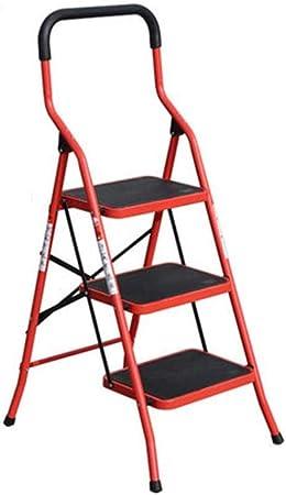 Escalera De Escaleras Escalera Interior Plegable Escalera De Espiga Multifunción Escalera Pequeña De Dos Pasos Escalera Interior De Dos Pasos (Color: Amarillo Tamaño: 53 * 64 * 123 Cm),53*64*123cm Red: Amazon.es: Hogar