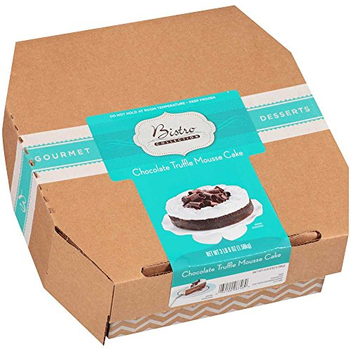 Sara Lee Bistro Collection Round Chocolate Truffle Mousse, 9 inch -- 2 per case.