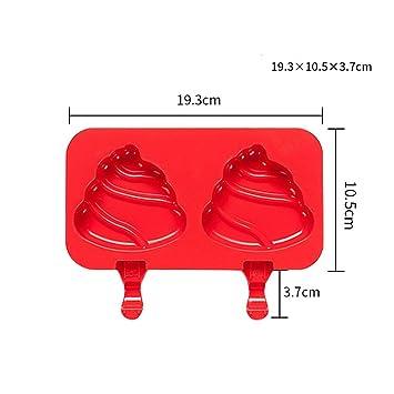 DZW Mini helado de silicona molde de la barra de molde, helado hecho por sí