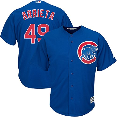 Bryant Youth Replica White Jersey (Jake Arrieta #49 Chicago Cubs Youth Alternate Cool Base Replica Jersey (Youth large 14/16))