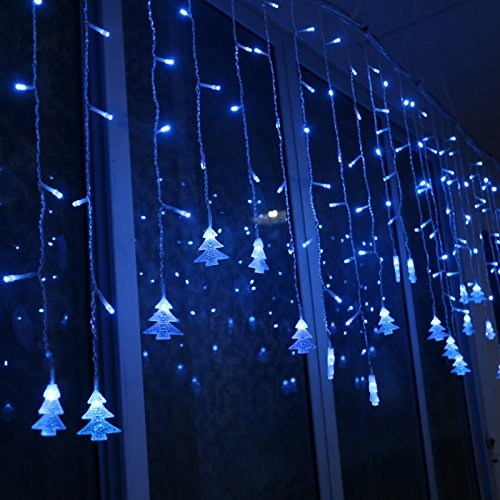 GSN 3.5M Colorful LED Light Strip Christmas Decoration Icicle Lights Xmas Tree Hanging Ornaments For Festival Party EU plug ()
