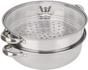 Stainless Steel Cookware, Steamer Pot Stainless Steel Steam Pot, Steamer, for Kitchen Bun for Home Steamed Bread