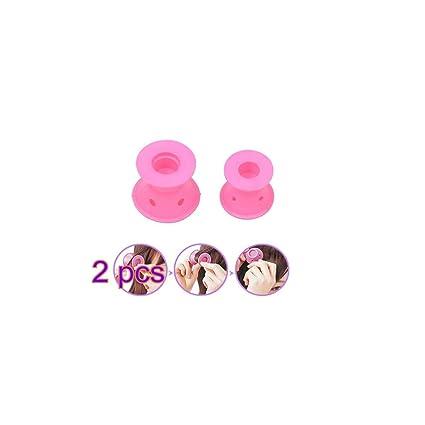 GODHL 10pcs rizadores Fashion silicona no Clip pelo rizador Rodillos belleza herramientas de peluquería