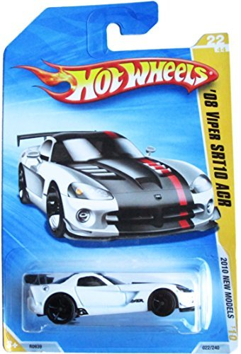 Hot Wheels 2010 New Models 2008 Dodge Viper SRT10 ACR in White