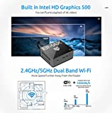 Mini PC,8GB DDR4/128GB SSD Mini Computer Windows 10 with Intel Celeron N3450 (up to 2.2GHz), Support 4K Dual Display, HDMI x2, USB x4, Dual-Band Wi-Fi, Bluetooth 4.2, Gigabit Ethernet