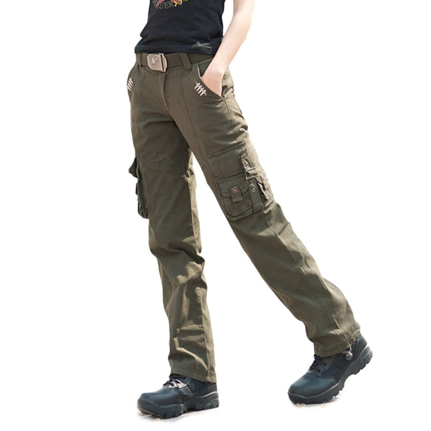 Free Knight Women's Breathable Casual Straight Leg Pants Cargo Tactical Trousers