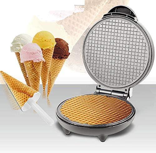 LLDKA Gaufrier électrique, Croissants poêle antiadhésive de Fer, Moule crème glacée Petit déjeuner