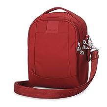 PacSafe Metrosafe LS100 Anti-Theft Cross-Body Bag, Vintage Red