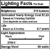 6pcs Edison Bulbs, KinHom 60 Watt Dimmable Vintage