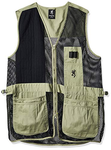 Browning, Trapper Creek Vest, X-Large, Sage/Black (Sporting Clay Shooting Vest)