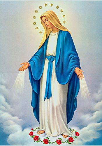 Our Lady Immaculate Conception of Mary POSTER A3 Virgin Mary print image Blessed Mother picture Holy Mary painting Catholic posters prints