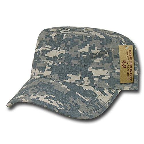 BHFC ACU Camo Camouflage Army GI Military Flat Cotton Cadet Castro BDU Ripstop Patrol Cap Hat ()