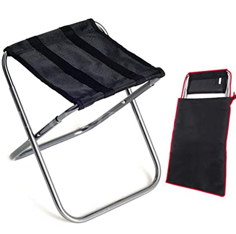Outdoor Mini Portable Folding Stool Beach Chair Aluminum Alloy Camping Oxford Cloth Chair With Storage Bag Beach Chairs Outdoor Furniture