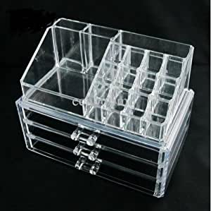 Amazon.com: Home-it Clear Acrylic Cosmetic Holder Large 3