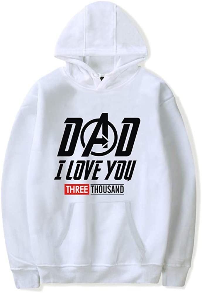 Classic DAD I Love You Three Thousand Hoody Hooded Long Sleeve Spring Autumn Pullover for Boy Girl Unisex