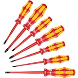 Wera 05135961001 Screwdriver Set Kraftform PlusSerie 100' 160iSS-7 pcs, Red-Yellow