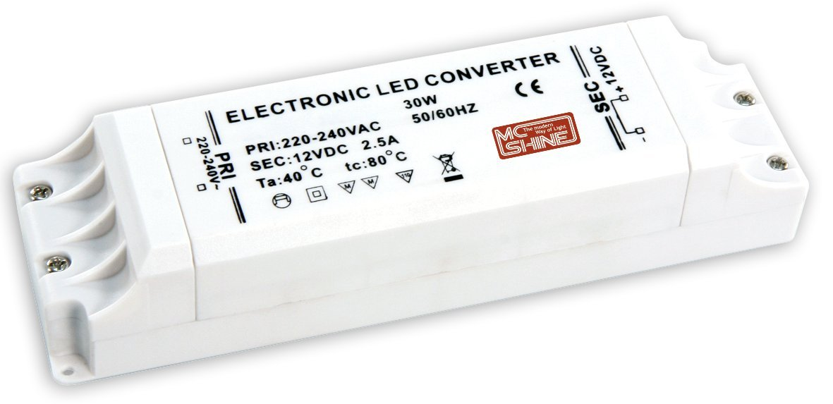 McShine Transformateur LED é lectronique 1-30 W 220-240 V 12 V 1326161