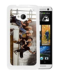 Beautiful Designed Cover Case For HTC ONE M7 With R5 Boy Band White Phone Case