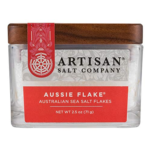 (SaltWorks Australian Sea Salt Flakes Artisan Glass Jar, 2.5 Ounce)
