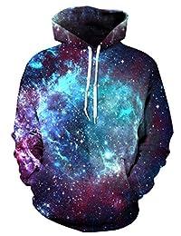 FEOYA Mens Unisex 3D Printed Hoodies Hooded Sweatshirts Graphic Pocket Pullover