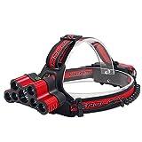 BGLOROSS Camping LED Headlamp, 9 Light 5 Model Helmet Light Outdoor Sport Hunting Head Light 18650 Rechargeable Batteries