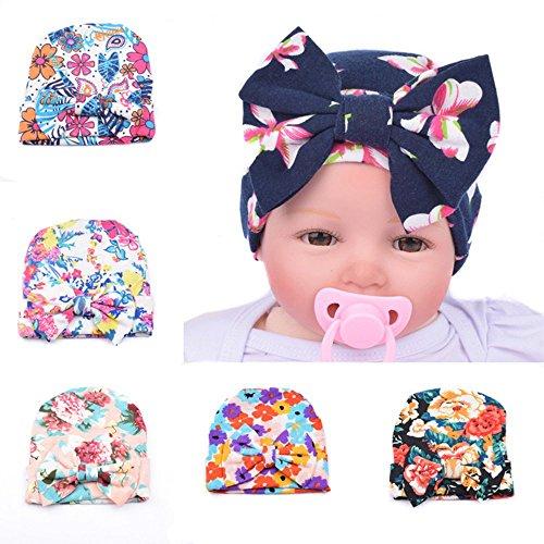 6pcs Infant Baby Newborn Hospital Bowknot Flower -