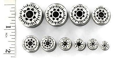 Ear Gauge With Sterling Silver Sundial Cap Elementals Organics Horn Ear Plug