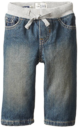 Boys Denim Pant (The Children's Place Baby Boys' Pull-on Aged Stone Denim Jean, Aged Stone, 18-24 Months)