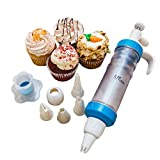 KPKitchen Cupcake Decorating Supplies Kit For Cakes Desserts & Pastries - FREE Cupcake Corer + 300 Paper Baking Cup Liners + eBook - 5 Tip Cake Decorator Tool Makes Decorations Without Decorating Bags