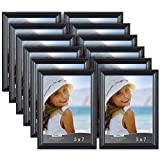 black 5x7 picture frames - Icona Bay 5x7 Picture Frames (5 by 7, 12 Pack), Black Picture Frame, Wall Mount or Table Top, Display Horizontally or Vertically, Inspirations Collection